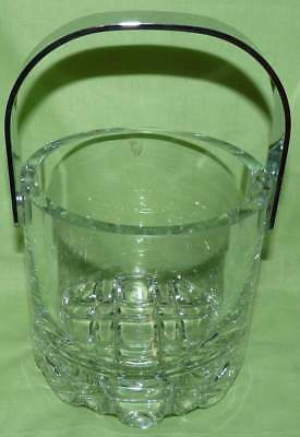 Glass Ice Bucket. ERIK. Orrefors Sweden. Very heavy.Collectable.