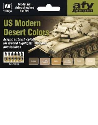 VAL71209 - AV Vallejo Model Air Set - US Modern Desert Colors AIRBRUSH PAINTS