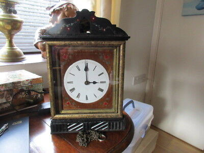 vintage wooden plate cuckoo picture frame clock