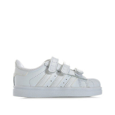 Infant Boys adidas Originals Superstar Foundation Trainers White Hook And Loop