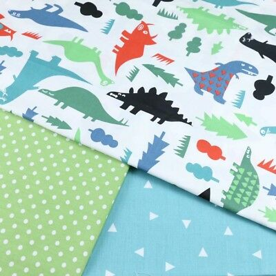 One PCS Cotton Fabric Pre-Cut Cotton cloth Fabric for Sewing Dinosaurs D99
