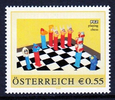 Pers. Marke AN: 8005391 - PEZ playing chess - 0,55 Euro.