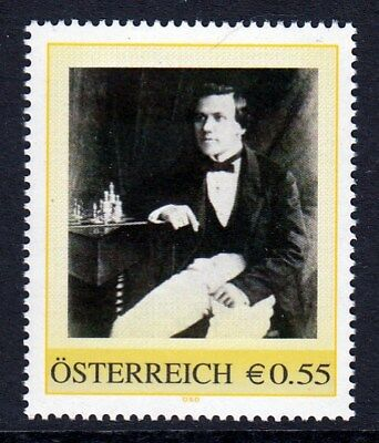 Pers. Marke AN: 8005370 - Aaron Nimzowitsch (1886-1935) - Schach - 0,55 Euro.