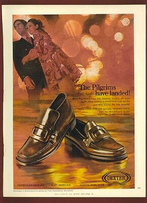 1969 Print Ad for Men's Pilgram Buckle Shoes by Dexter Shoe Company
