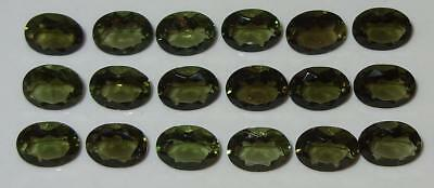 8x6mm Faceted TOP QUALITY Natural Czechoslovakia Moldavite Oval Cut