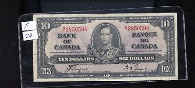 1937 Bank of Canada $10 Coyne Towers  BL3419