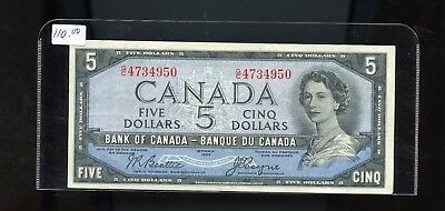 1954 Bank of Canada $5 Devil's Face Beattie Coyne VF or better BL3392