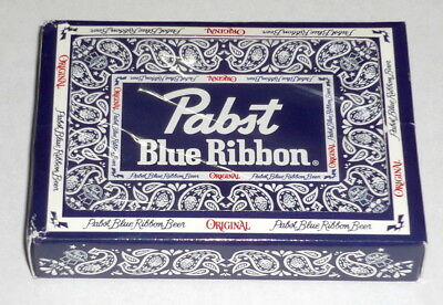 PBR Pabst Blue Ribbon Beer Branded Playing Cards Deck Poker No Limit Card Games