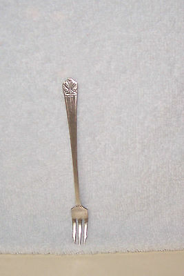 Vintage (1939) Seafood / Pickle Fork - Lady Esther Silver Plate - 5 7/8 Inches