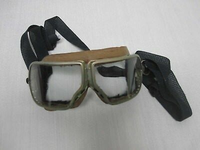 Antique Folding Glass Aviator Motorcycle Goggle Glasses