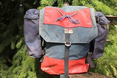 VINTAGE 70s CLAN ROBERTSON CANVAS BACKPACK Boulder Colo
