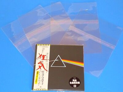 100 Japan Resealable Outer Plastic Sleeve Bag For  Mini Lp Cd