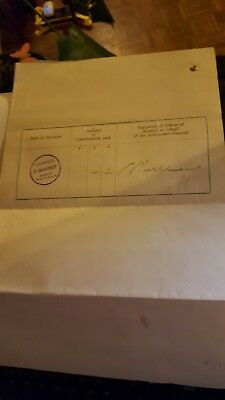 Original Certificate of Contract 1927 complete with linen plan (item 1)
