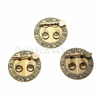 Furniture Brass Hardware Door Latch Plate Handle Pull Knocker Antique Chinese