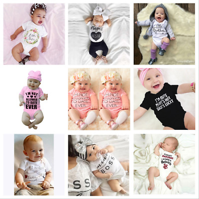 Personalised Baby Baby Girls Clothes Great Newborn Gift - Romper Bodysuit/Grow