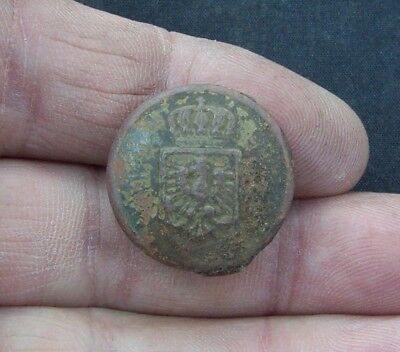 Dug German Uniform Button German Empire Metal Detecting Find