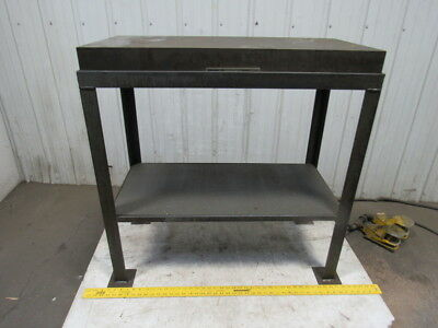 "Challenge Machinery 18x36x4x37"" Cast Iron Webbed Inspection Table Surface Plate"
