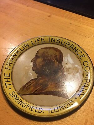 Vintage The Framklin Life Insurance Springfield Illinois Tip Tray