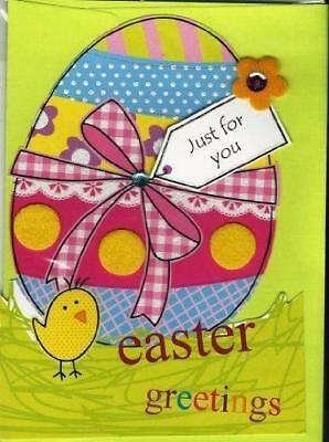 Just For You 'Easter Greetings' Handmade Second Nature New Card