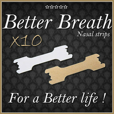 10 LARGE NASAL STRIPS - BETTER BREATHE - BEST QUALITY - Anti-snoring