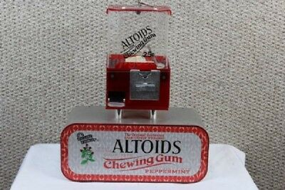RARE Table Top Bar Altoid's Mints Coin Operated Vending Machine with Keys Coinop