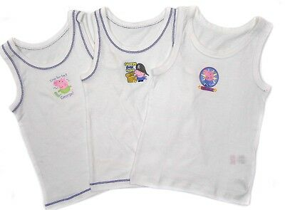 Boys George Pig Three Pack Vests 18-24 Months and 2-3 Years Bargain