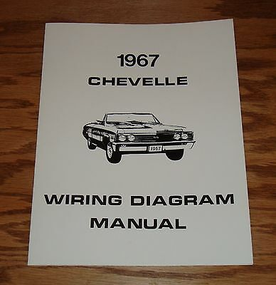 1967 CHEVROLET CHEVELLE Wiring Diagram Manual 67 Chevy SS - $9.00 ...