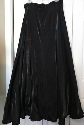 JS Collections Formal Full Length Shimmering Black Taffeta Skirt Tulle Petticoat