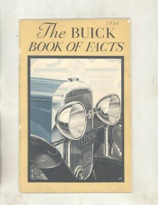 1930 Buick Book of Facts Mechanical Features Brochure wz1101