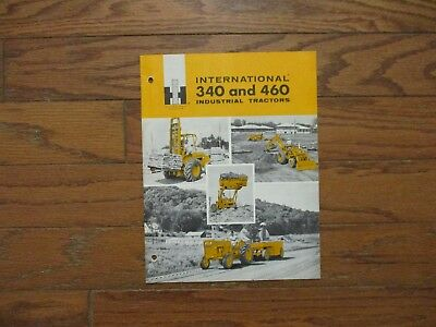 "1961 INTERNATIONAL ""340"".. ""460"" INDUSTRIAL TRACTORS BROCHURE..24pgs..GOOD+"