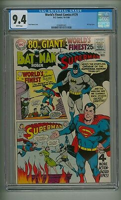 World's Finest 179 (CGC 9.4) White pgs; 80 Page Giant; Neal Adams cover (c#17796