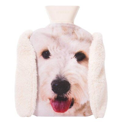 NEW Labradoodle Hot Water Bottle Pet Hotty With Removable Cover and Plush Ears