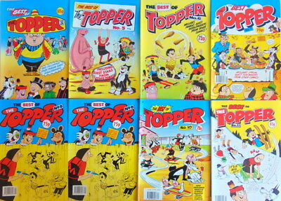 Thirteen early numbers vintage The Best Of THE TOPPER comic publications