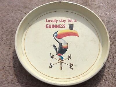 Vintage Guiness Toucan beer Tray(lovely day for a Guiness)- man cave - bar tray