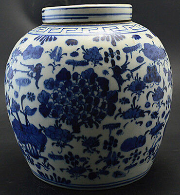 JA Charming Chinese Blue and white porcelain pot jar painted flowers pictures