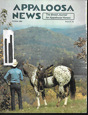 Appaloosa News Horse Magazine October 1982 Equine Breed Journal