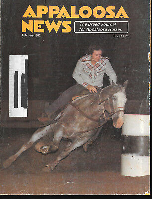 Appaloosa News Horse Magazine February 1982 Equine Breed Journal