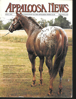 Appaloosa News Horse Magazine April 1983 Equine Breed Journal