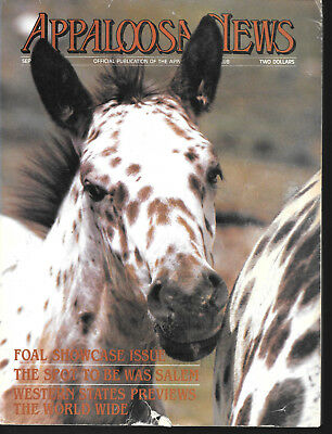 Appaloosa News Horse Magazine September 1983 Equine Breed Journal