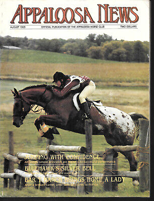 Appaloosa News Horse Magazine August 1983 Equine Breed Journal