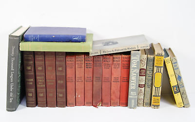 Lot of 18 Vintage Children's Books: Winnie The Pooh- Mark Twain - My Book House
