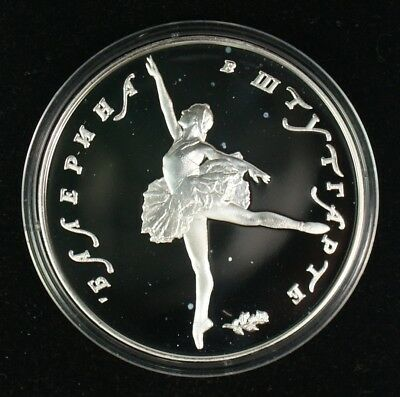 1993 Russia 3 Roubles Ballerina Proof Silver Coin