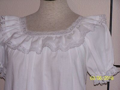 White western rodeo square dance peasant blouse  Lge