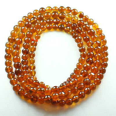 29.75g 100% Natural Mexican Golden Amber Bead Bracelet Necklace CSFb612