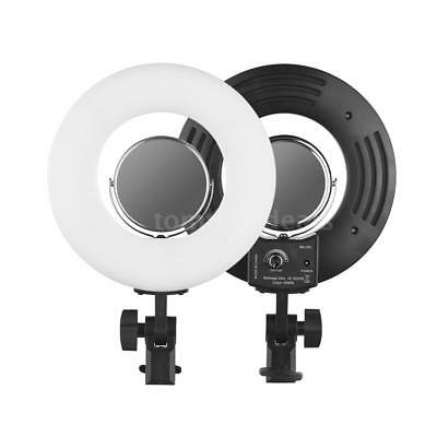 24W 8 Inch 5500K Led Ring Lighting Live Video Film Continuous Light+Mirror Q3Z6