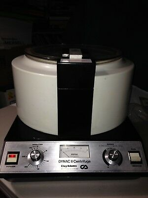 Clay Adams Dynac II Centrifuge 4 Place Rotor w/tubes **TESTED**