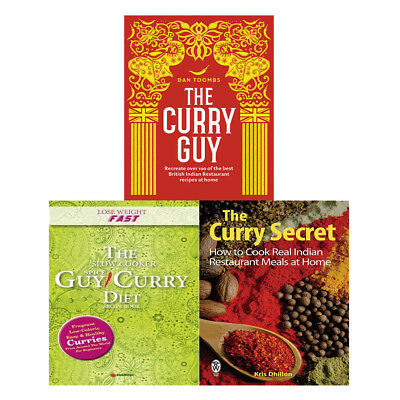 Curry Guy, Lose Weight Fast, Curry Secret 3 Books Collection Set Slow Cooker UK