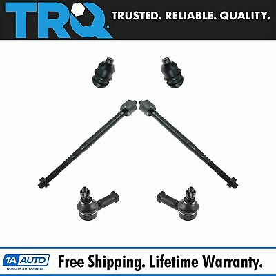 6 Piece Kit Inner /& Outer Tie Rods and Lower Ball Joint
