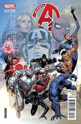 NEW AVENGERS #33, CHEUNG END OF AN ERA VARIANT, New, Marvel Comics (2015)