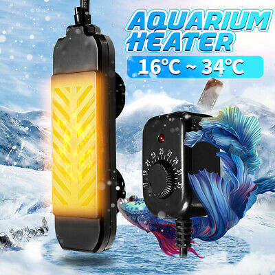 25-300W Mini Aquarium Heater Submersible Fish Tank Adjustable Water Thermostat